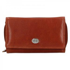 Dámská kožená peněženka DD Anekta Debra – hnědá