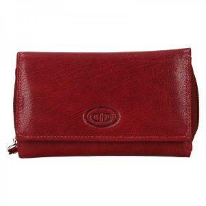 Dámská kožená peněženka DD Anekta Debra – tmavě červená