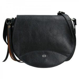 Luxusní dámské kožené crossbody Daag Simonet – černá