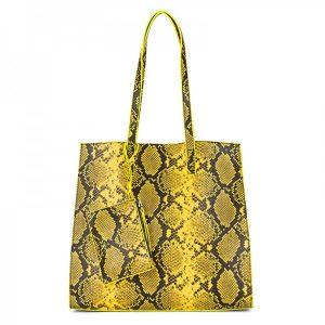 Dámská kabelka Emily & Noah Lina 3v1 – žlutá
