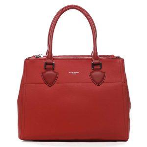 Dámská kabelka červená – David Jones Mille červená