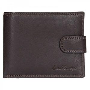 Pánská kožená peněženka SendiDesign Sauli – hnědá