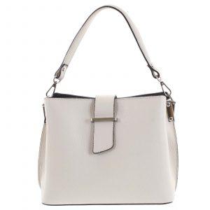 Dámská kožená kabelka do ruky béžová – ItalY Auren béžová