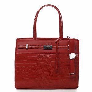Dámská kabelka přes rameno červená – David Jones Devriese červená