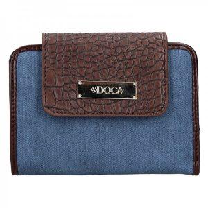 Dámská peněženka Doca 64916 – modro-hnědá