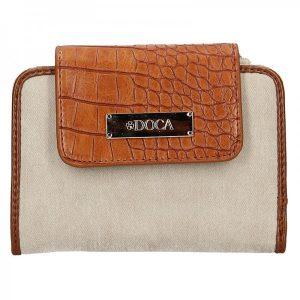 Dámská peněženka Doca 64915 – hnědo-béžová