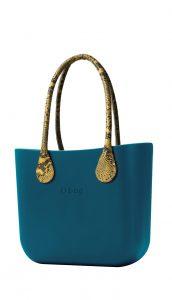 O bag kabelka MINI Ottanio s dlouhými žlutými koženkovými držadly Snake