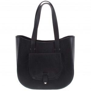 Dámská kožená kabelka přes rameno černá – ItalY Normani černá