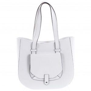 Dámská kožená kabelka přes rameno bílá – ItalY Normani bílá