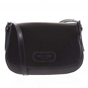 Dámská kožená crossbody kabelka černá – ItalY Fisher černá