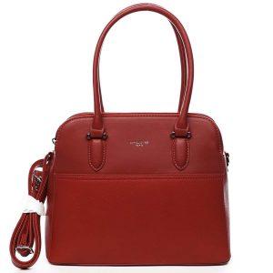 Dámská kabelka přes rameno červená – David Jones Lalapona červená