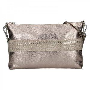 Trendy dámská kožená crossbody kabelka Facebag Elesn – zlatá