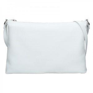 Trendy dámská kožená crossbody kabelka Facebag Elesn – bílá