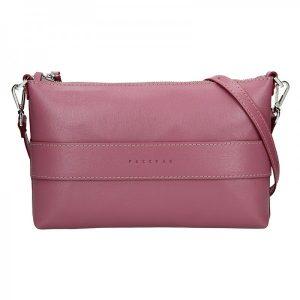 Trendy dámská kožená crossbody kabelka Facebag Elesn – růžová