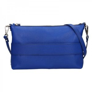 Trendy dámská kožená crossbody kabelka Facebag Elesn – modrá