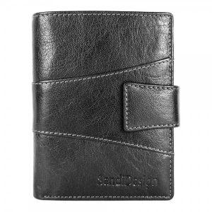 Pánská kožená peněženka SendiDesign 1041L – černá