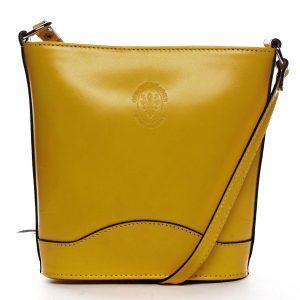 Žlutá kožená crossbody kabelka – ItalY Bryana Dark žlutá