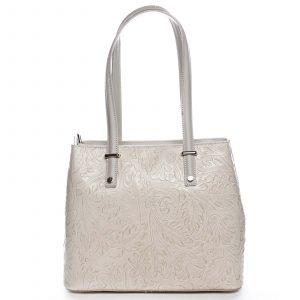 Exkluzivní dámská kožená kabelka béžová – ItalY Logistilla béžová