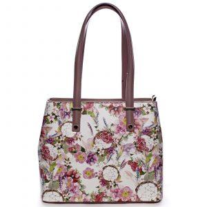 Exkluzivní dámská kožená kabelka starorůžová – ItalY Logistilla růžová