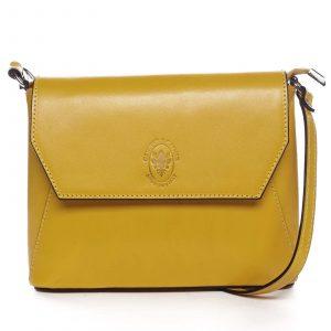 Dámská kožená crossbody kabelka žlutá – ItalY Marleta žlutá