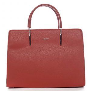 Dámská kabelka do ruky červená – David Jones Miracle červená