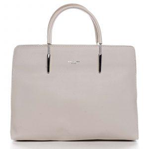 Dámská kabelka do ruky krémově bílá – David Jones Miracle krémová