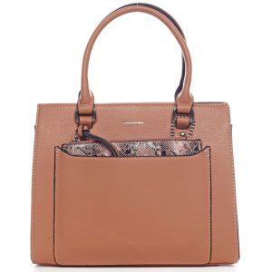 Exkluzivní dámská kabelka oranžová – David Jones Joan oranžová