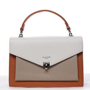 Dámská kabelka do ruky oranžová – David Jones Holeruge oranžová