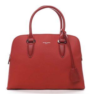 Dámská kabelka do ruky červená – David Jones Nemoris červená