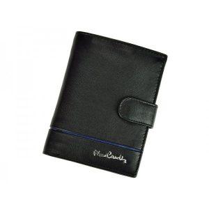 Pánská kožená peněženka Pierre Cardin Philippe – černo-modrá