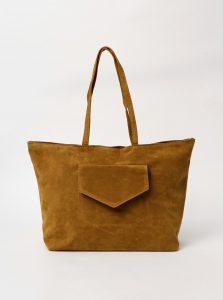 Hnědá kabelka v semišové úpravě Haily´s Shoppy
