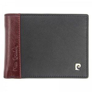 Pánská kožená peněženka Pierre Cardin Milane – červeno-černá