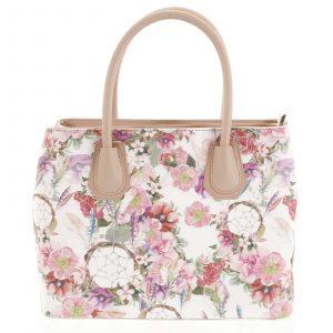 Originální dámská kožená kabelka růžová – ItalY Mattie Flower růžová