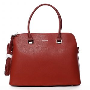 Dámská kabelka červená – David Jones California červená
