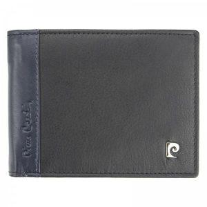 Pánská kožená peněženka Pierre Cardin Viléms – modro-černá