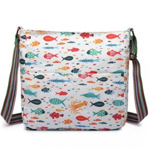 Kabelka Korra Fish Mania – bílá bílá