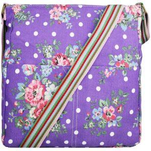 Kabelka Korra Floral Vintage – fialová