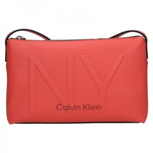 Dámská crossbody kabelka Calvin Klein Petrona – koral