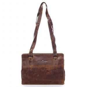 Dámská kožená kabelka přes rameno hnědá – Greenwood Kamille hnědá