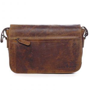 Kožená taška přes rameno hnědá – Greenwood Aboutus hnědá