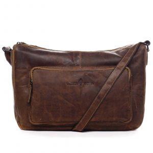 Kožená taška přes rameno hnědá – Greenwood Aboutme hnědá