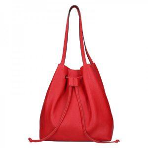Dámská kožená kabelka Unidax Centa – červená