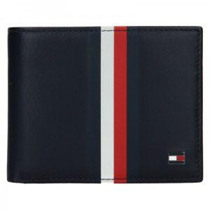 Pánská kožená peněženka Tommy Hilfiger Wulf – tmavě modrá