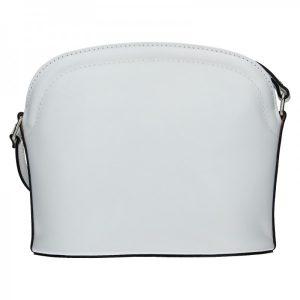 Dámská kožená kabelka Vera Pelle Tinna – bílá