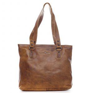 Dámská kožená kabelka přes rameno hnědá – Greenwood Arlissa hnědá