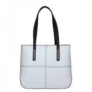 Dámská kožená kabelka Vera Pelle Meraba – černo-bílá