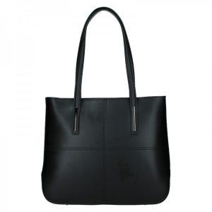 Dámská kožená kabelka Vera Pelle Meraba – černá