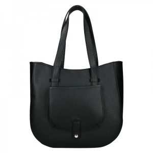 Dámská kožená kabelka Vera Pelle Aisha – černá