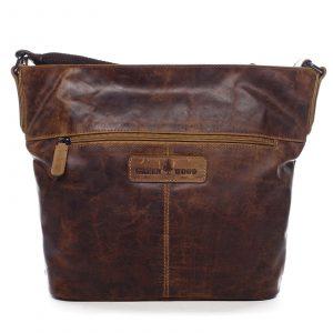 Dámská kožená kabelka přes rameno hnědá – Greenwood Fluxis hnědá