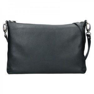 Trendy dámská kožená crossbody kabelka Facebag Elesn – černá